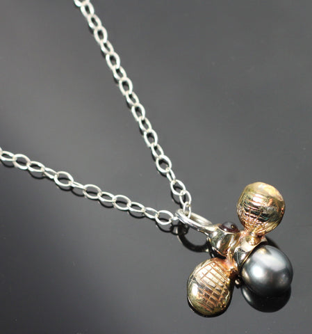 Bronze Bumble Bee Pendant on chain-BRW1023C