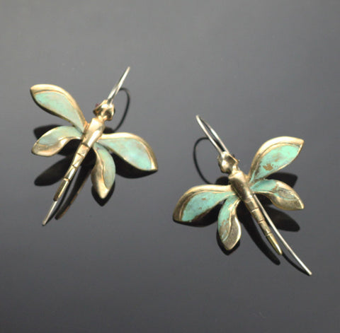 Bronze Dragonfly Earrings-BREW1020
