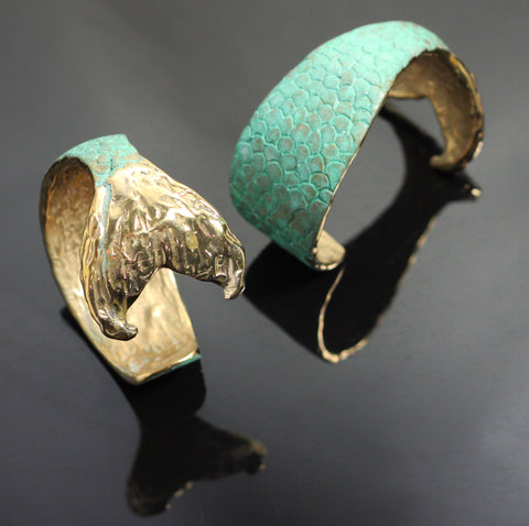Bronze Mermaid Tail Cuff-BRB1016