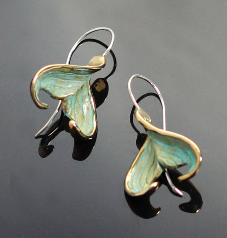 Bronze Mermaid Tail Earrings-BRE1020