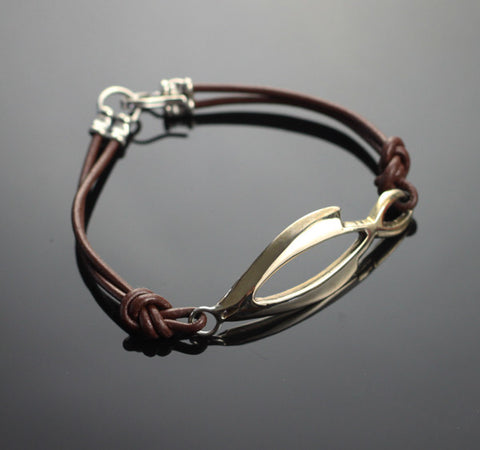 Bronze Open Fish Bracelet