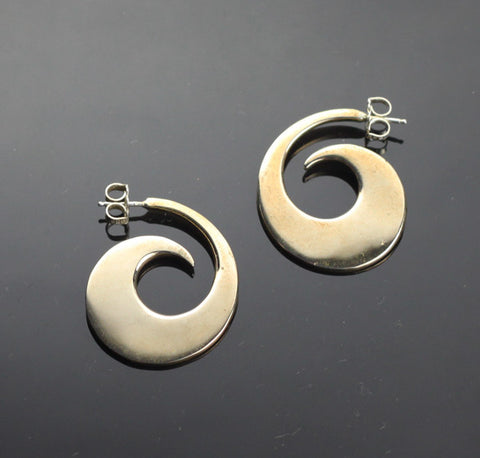 Bronze Reverse Wave Earrings