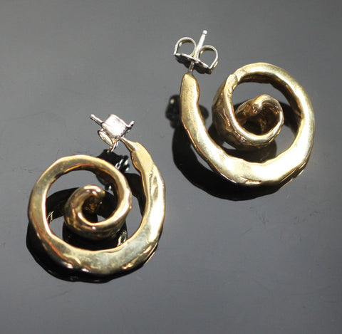 Bronze Spiral Earrings-BRE1017