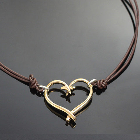 Bronze Hook Heart Necklace – BRP1047-S