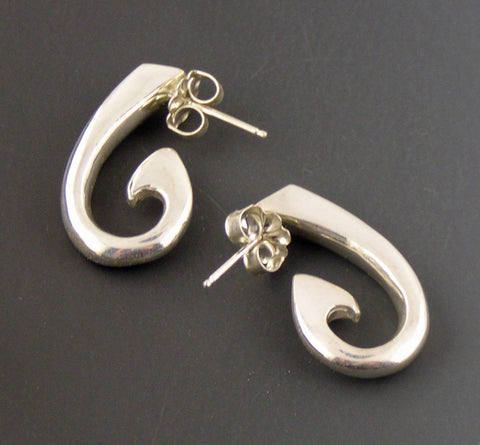 Non-tarnish sterling silver Circle Hook Earrings – EP1038