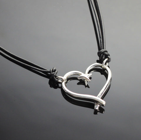 Hook Heart Necklace – P1047-S