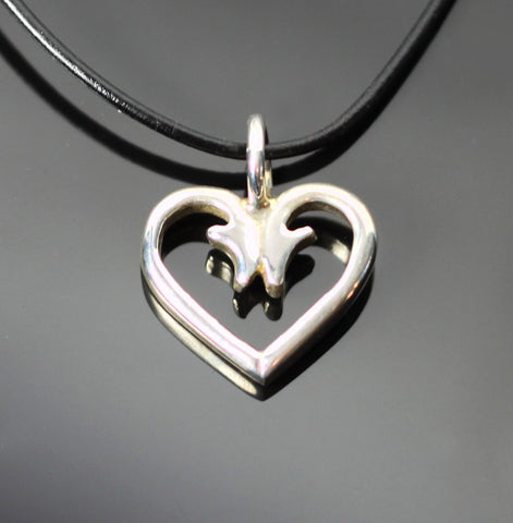 Sm Hook Heart Pendant-P1056