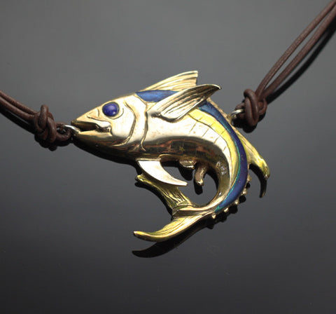 Bronze Yellowfin Tuna Necklace-BRF1020-N