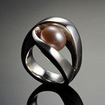 Almost There Ring with Pink Pearl