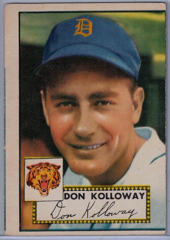 1952 Topps Baseball #104 Don Kolloway A $15.00