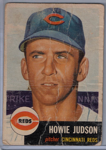 1953 Topps # 12 Howie Judson $3.00