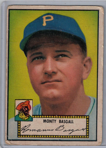 1952 Topps Baseball # 12 Monty Basgall Red Back $10.00