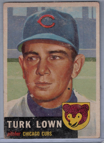 1953 Topps #130 Turk Lown A $4.00