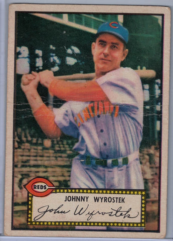 1952 Topps Baseball # 13 Johnny Wyrostek Red Back $8.00