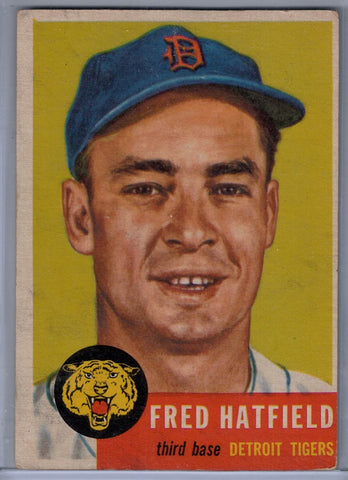 1953 Topps #163 Fred Hatfield A $9.00