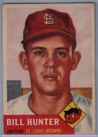 1953 Topps #166 Bill Hunter B $10.00
