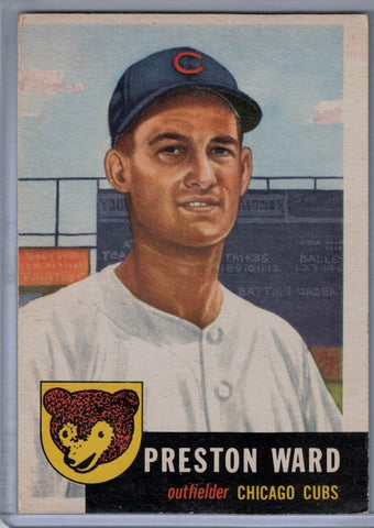 1953 Topps #173 Preston Ward A $15.00