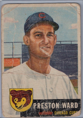 1953 Topps #173 Preston Ward B $4.00