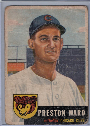 1953 Topps #173 Preston Ward C $5.00