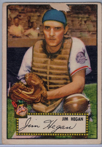 1952 Topps Baseball # 17 Jm Hegan Red Back $8.00