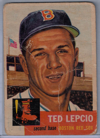 1953 Topps # 18 Ted Lepcio A $3.00