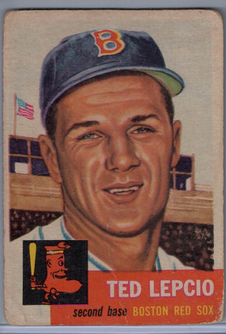 1953 Topps # 18 Ted Lepcio B $4.00