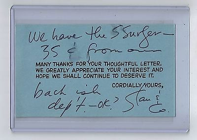 May 24, 1968 Marvel STAN LEE Signed Postcard $250.00