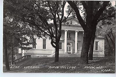 Vintage Postcard of The Library, Ripon College, Ripon, WI $10.00
