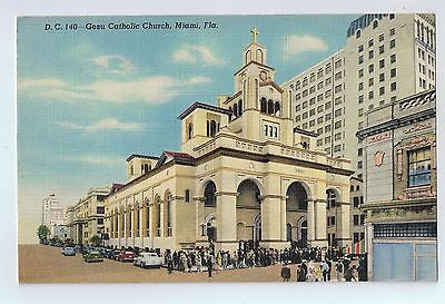 Gesu Catholic Church, Miami Florida Vintage Postcard $10.00