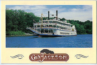 Vintage Postcard of The Gen Jackson Paddlewheel Showboat $10.00