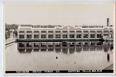 Vintage Postcard of Northern States Power Co. Chippewa Falls, WI $10.00