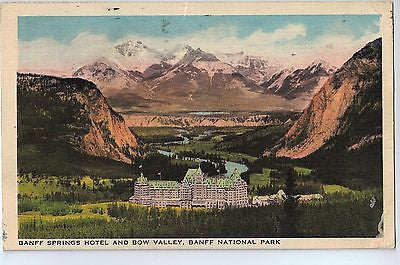 Vintage Postcard of Banff Springs Hotel and Bow Valley, Banff National Park $10.00