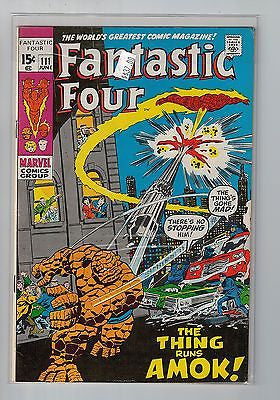 Fantastic Four Issue # 111 Marvel Comics $37.00