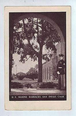 U. S. Marine Barracks, San Diego, California Vintage Postcard $10.00