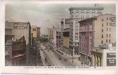 Vintage Postcard of Main Street, Winnipeg, Manitoba $10.00