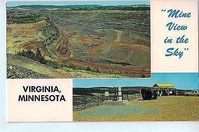 Vintage Postcard of Mine View In The Sky Virginia, Minnesota $10.00