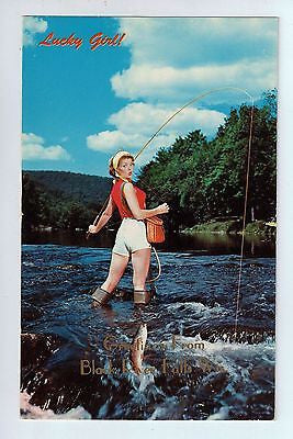 Black River Falls, Wisconsin Vintage Postcard (Lucky Girl!) $10.00