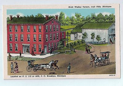 Brick Walker Tavern, Irish Hills, Michigan Vintage Postcard $10.00