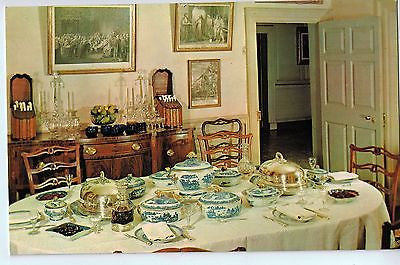 Vintage Postcard of The Dining Room in Mount Vernon, VA $10.00