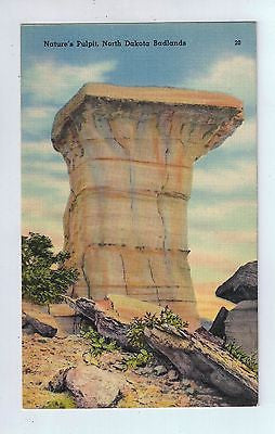 Nature's Pulpit, North Dakota Badlands Vintage Postcard $10.00