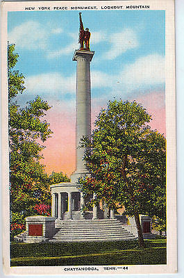 Vintage Postcard of New York Peace Monument, Lookout Mountain, Chattanooga, TN $10.00
