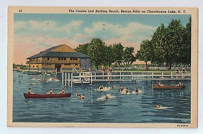 Bemus Point Chautauqua Lake, New York Vintage Postcard $10.00