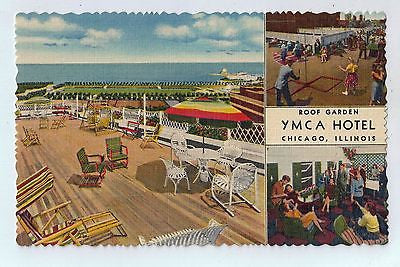 Roof Garden YMCA Hotel Chicago, Illinois Vintage Postcard $10.00