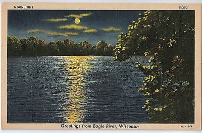 Vintage Postcard of Greetings From Eagle River, Wisconsin $10.00