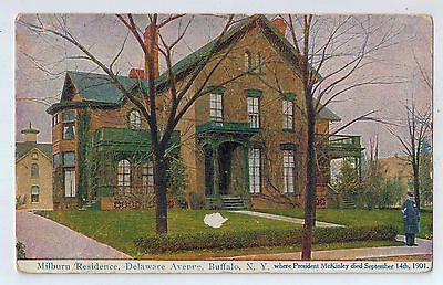 Milburn Residence (Where McKinley died), Buffalo, New York Vintage Postcard $10.00