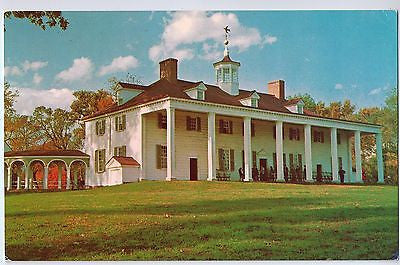 Vintage Postcard of the East Front of George Washington's Home, Mount Vernon, VA $10.00