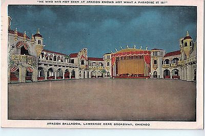 Vintage Postcard of Aragon Ballroom, Lawrence Near Broadway, Chicago, IL $10.00