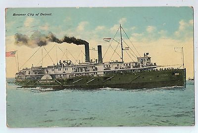 Steamboat, City of Detroit, Michigan Vintage Postcard $10.00