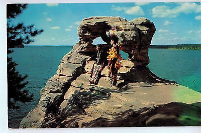Vintage Postcard of Indians at the Wisconsin Dells, WI $10.00