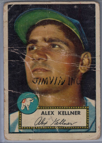 1952 Topps Baseball #201 Alex Kellner $5.00
